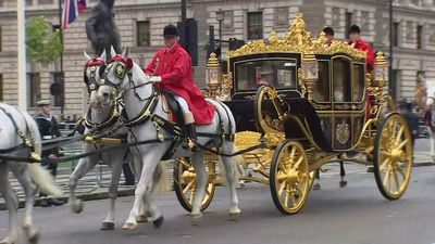 The Queen departs for the Houses of Parliament