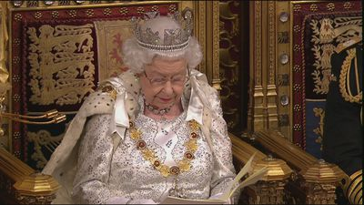 The Queen delivers her speech to the House of Lords