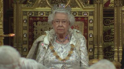 MPs gather for The Queen's speech inside the House of Lords