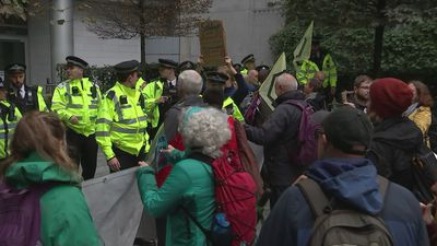 Extinction Rebellion protest in City of London