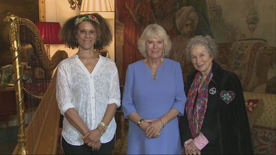 Duchess of Cornwall meets Booker Prize winners