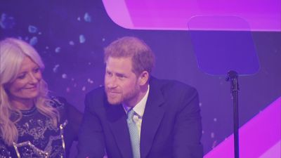 Prince Harry makes emotional speech at WellChild awards