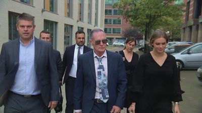 Paul Gascoigne arrives at court as trial reaches final stage