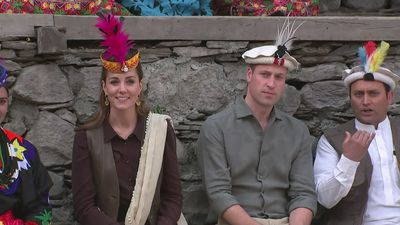 Duke and Duchess of Cambridge visit Pakistani village