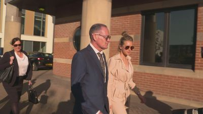 Paul Gascoigne arrives at court