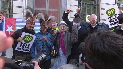 Westwood joins protest against BP's actions in West Papua