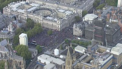 People's Vote march reaches Parliament Square