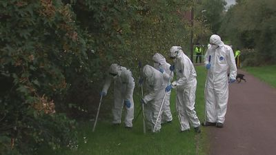 Forensic teams investigate scene of Milton Keynes stabbing