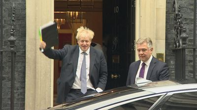 Boris Johnson departs 10 Downing Street to attend PMQs