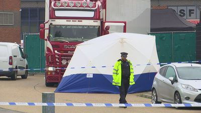 Police cordon off site in Essex where 39 bodies were found