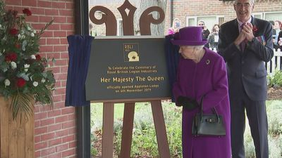 Queen marks centenary of Royal British Legion Industries