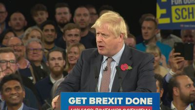 Boris Johnson opens speech with Brexit-anaconda analogy