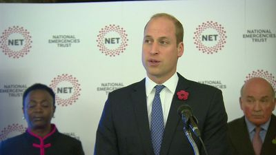 Duke of Cambridge attends launch of new charity