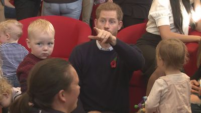 Harry and Meghan visit military families