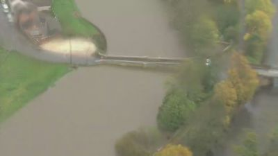 Aerials of 'biblical' flooding in Doncaster