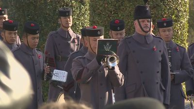 Nation falls silent to honour those who died in war