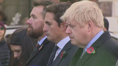 Boris Johnson attends Armistice Day service in Wolverhampton