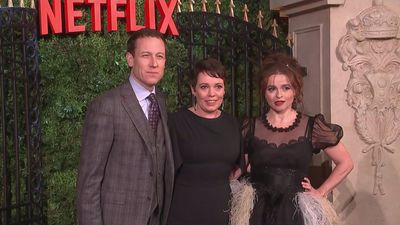 Olivia Colman arrives for London premiere of The Crown