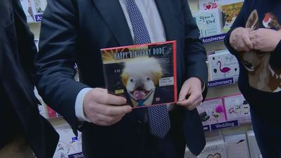 PM impressed by lookalike dog on card