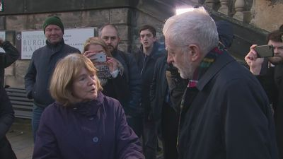 Corbyn reassures heckler about IndyRef2