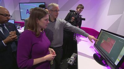 Jo Swinson visits Imagination Technologies on campaign trail