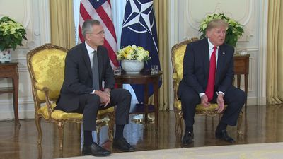 President Trump launches row over Nato funding