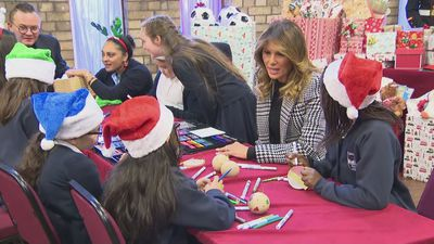 Melania Trump visits Salvation Army centre in London