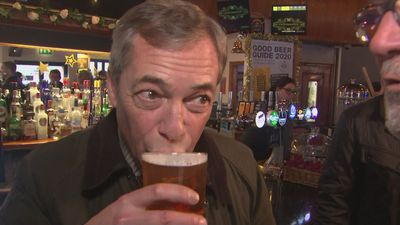 'You're my hero' - Farage mingles with supporters in Kirkby