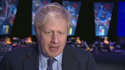 Johnson avoids question on joking about Trump