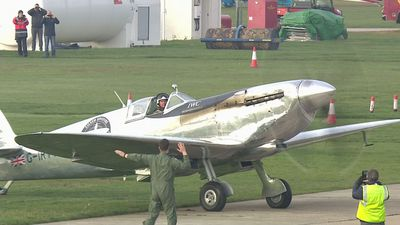 Silver Spitfire lands back in UK after four-month world tour