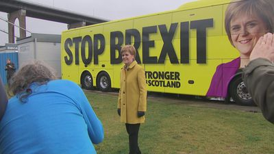 Nicola Sturgeon unveils the SNP's 2019 battle bus