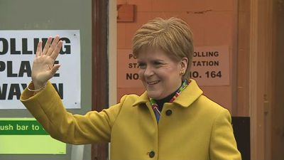 Nicola Sturgeon arrives to vote in the 2019 General Election