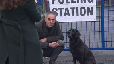 Green Party Co-Leader Jonathan Bartley casts his vote
