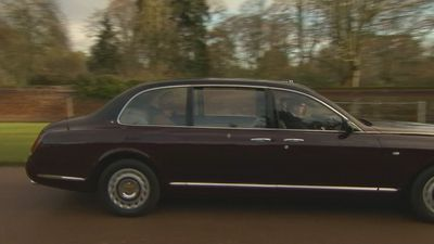 The Queen arrives for church service in Sandringham
