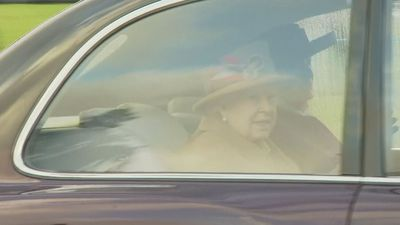 The Queen departs church service in Sandringham