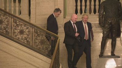 Boris Johnson speaks as Stormont stalemate ends