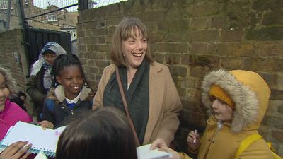 Labour leadership candidate Jess Phillips visits school