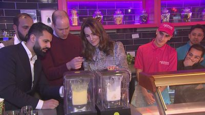 William and Kate make milkshakes at MyLahore restaurant