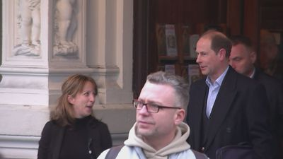 Prince Edward departs Criterion Theatre