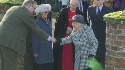 Queen arrives at church near her Sandringham estate