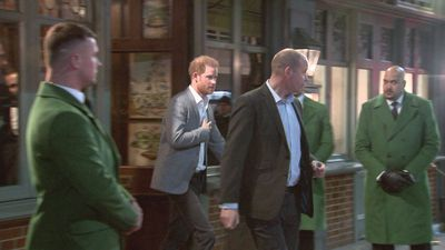 Prince Harry leaves charity gala after speech