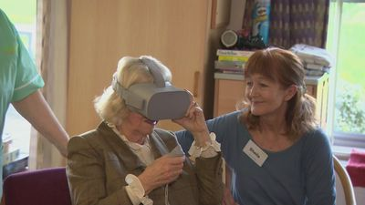 Duchess of Cornwall Tries Out VR Headset at Hospice