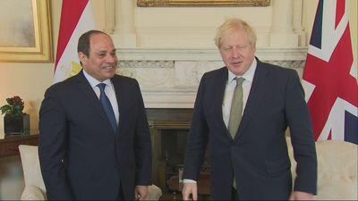 Johnson holds talks with Egyptian president