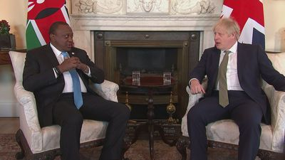 Johnson welcomes Kenyatta to Downing Street