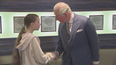Prince Charles discusses climate change with Greta Thunberg