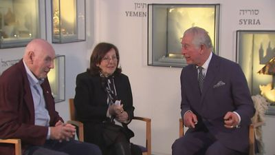 Prince Charles meets British Holocaust survivors