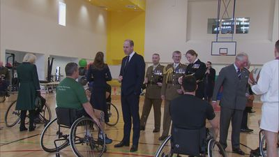 Cambridge's join Charles and Camilla for visit to Army Rehab