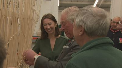 Prince of Wales visits weaving factory