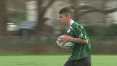 Syrian refugee Ayman Faki now stars in his local rugby team