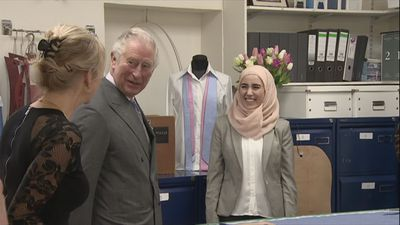 Prince Charles Visits Shirt Maker Workshop in Gloucester